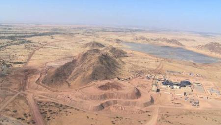 Vue générale du site de la mine de Bisha