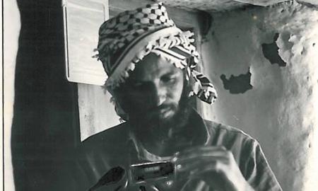 Seyoum Tsehaye dans le maquis, à l'époque de la guerre d'indépendance.